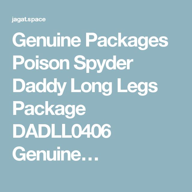 Genuine Packages Poison Spyder Daddy Long Legs Package DADLL0406 Genuine…