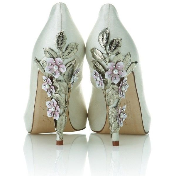 Exclusive Harriet Wilde bridal shoe collection launches at Harrods | Bridalwave found on Polyvore: Fashion, Style, Wedding Shoes, Wedding Ideas, Wedding Dress, Weddingshoes, Heels, Bridal Shoes