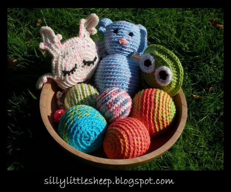 A bowl of lovely handmade toys