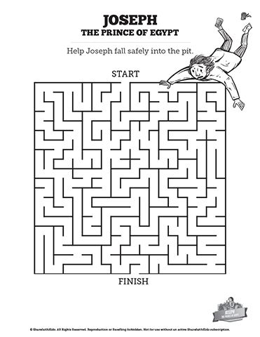 The Story Of Joseph the Prince of Egypt Bible Mazes: If