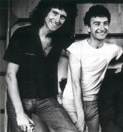 Brian May and John Deacon
