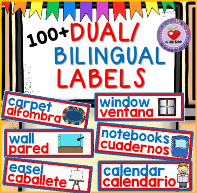 The 10 best images about bilingual classroom on pinterest for Room labels