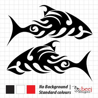 Fish Tribal Sticker Boat Decal Fishing Rod Line Lure Seafood Tank Tackle Reel