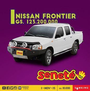⚠Este domingo SALE O SALE⚠  Una imponente Nissan Frontier doble cabina 0 Km.  ¿Te imaginas viajar por todos lados en esta camioneta?   No te quedes sin tu cartón, pedí #Seneté ¡Che po remoi!✋