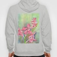 Hoody featuring Red Orchid by Ewally