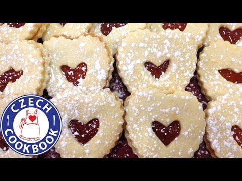 Linzer Hearts Recipe - Linecká srdíčka - Czech Cookbook - YouTube