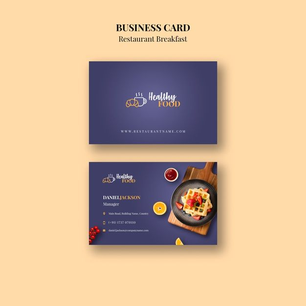 Download Restaurant Business Card Template For Free Restaurant Business Cards Restaurant Card Design Free Business Card Design