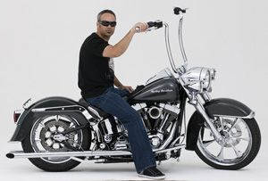 Ape Bars for Harley Davidson | Carlini Design | Handlebars | Ape Hangers | Gangster Ape 1.25""
