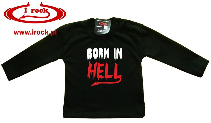 BUY HERE: http://irock.pl/rockbaby-ubrania-dzieciece/162-born-in-hell-.html  Rock baby kid child little metalhead born in hell rockman toddler goth metal punk parents motorbike black clothes for children style rocking