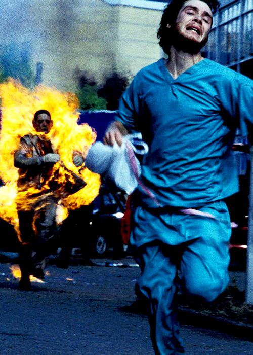 "What's the worst that can happen during a zombie apocalypse? Zombies getting the ability to run! Yes, in this film ""28 days later"" zombies can run as fast as dogs. (Cillian Murphy in 28 Days Later)"