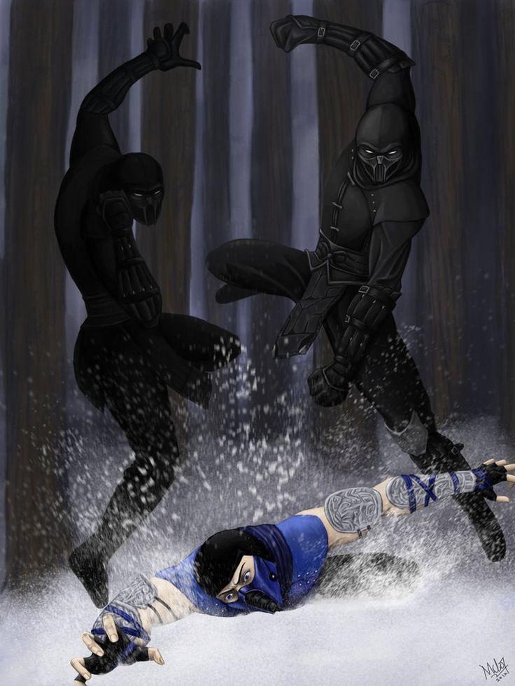 Noob Saibot vs. Sub-Zero by Grace-Zed on deviantART