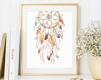 Tribal Bullhead Floral Cow Skull Wall Art von PrintableBeautyArt