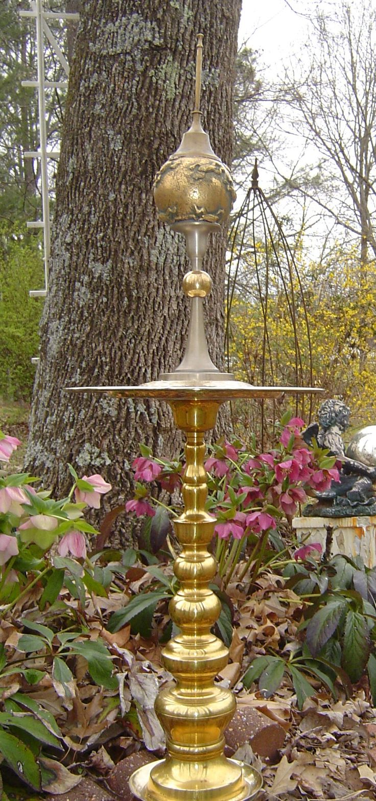 Poppy flower stake garden art poppy strong metal yard art flower - Recycled Garden Sculpture