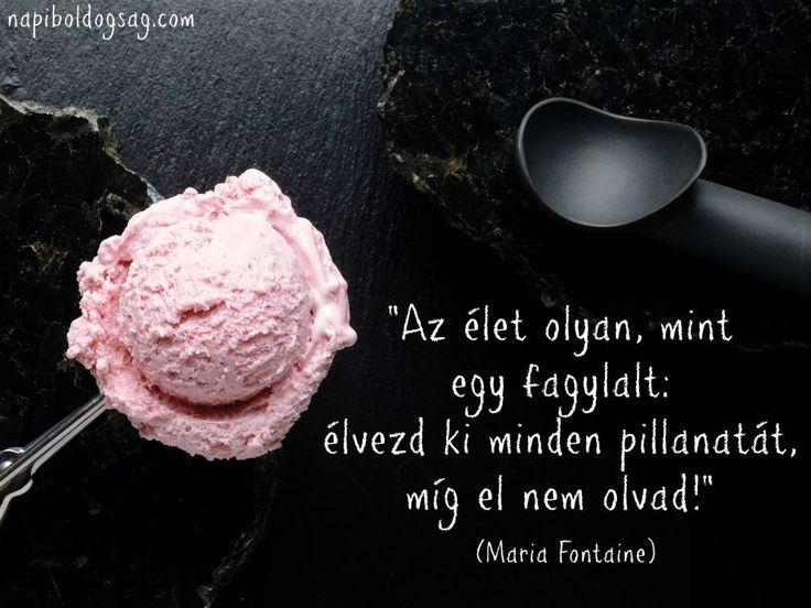Maria Fontaine idézet a pillanat kihasználásáról. A kép forrása: Napi Boldogság