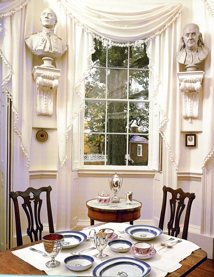 "Tea Room at Thomas Jefferson's ""Monticello"""