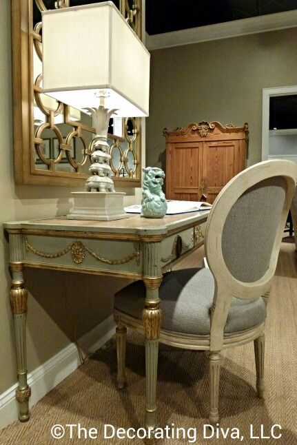 Pretty, pretty, pretty desk and chair from Pearson Furniture at fall 2013 High Point Market. #hpmkt