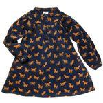 EQUESTRIAN PRINT CORDUROY SWING DRESS (CHILD)
