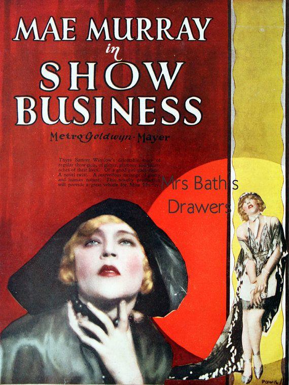 mae murray | Mae Murray Vintage Movie Poster, Show Business, 1927 MGM movie ...