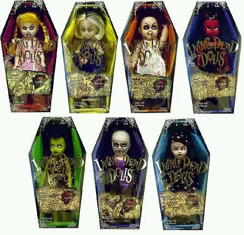 Living Dead Dolls Lot 7 Seven Deadly Sins Lust Gluttony Wrath Envy Sloth Greed