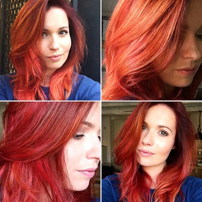 Niet elke keer als ik naar de kapper ben geweest maak ik een update over mijn geüpdatete haarkleur, maar deze keer wil ik je toch weer even in detail laten zien hoe de zomer-update voor mijn rode haar eruitziet. Ik ben er zo blij mee! Alweer was Luanna90 op Instagram mijn haarinspiratie en haar foto's liet ik dan ook aan mijn kapper zien.