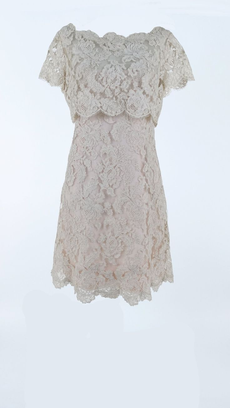 1960s Blush Lace Dress from Silver Moon