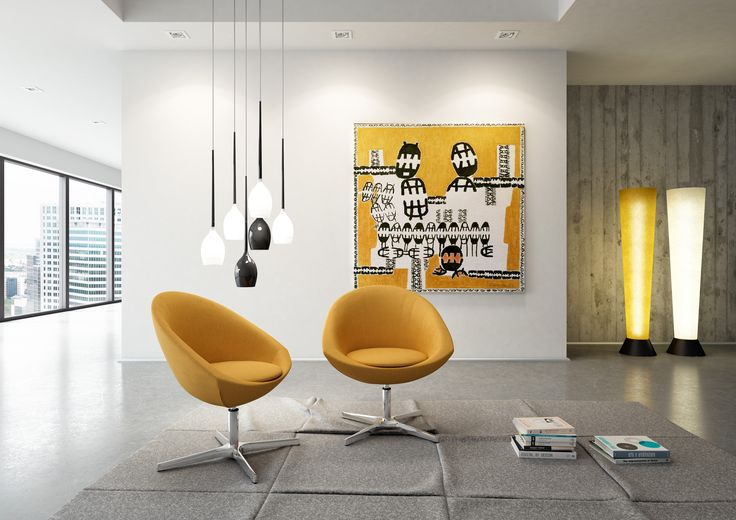 Agio is designed for the lounge areas to light up the space, 100% made in Italy, office design