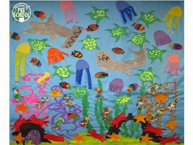Best 25 ocean animal crafts ideas on pinterest ocean for Arts and crafts mural