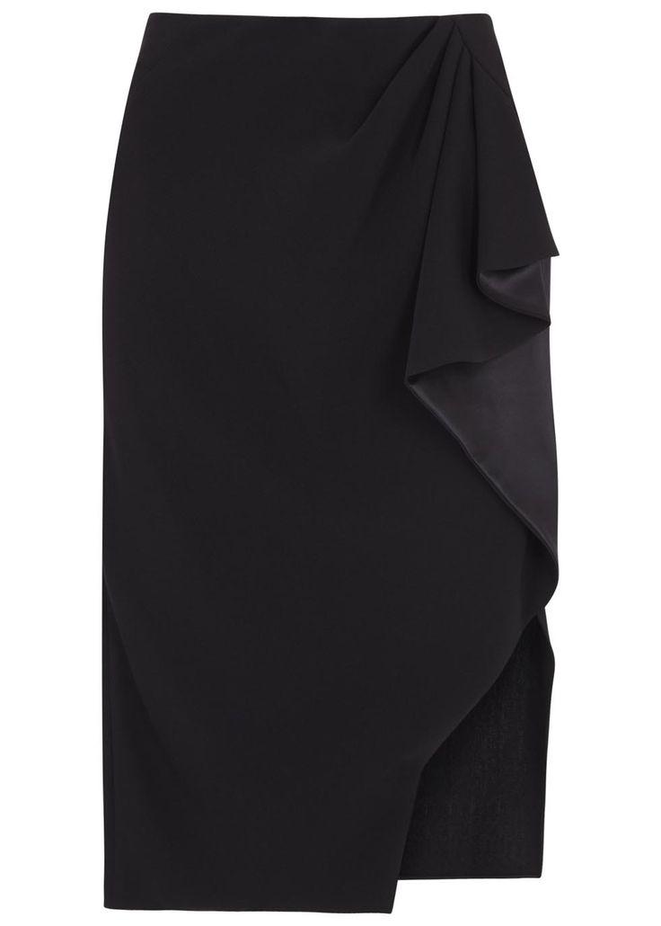 Harvey Nichols ALTUZARRA Avenger black ruffled pencil skirt (SC110344) £465.00