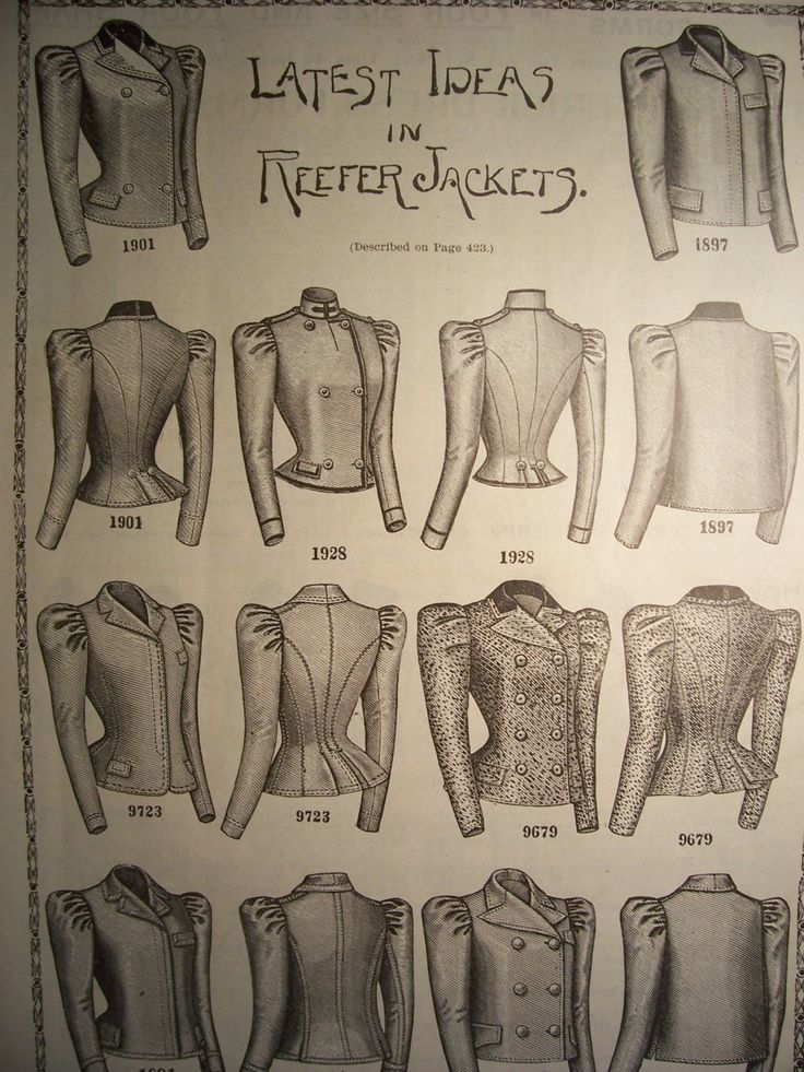 1898 REEFER chaquetas moda victoriana por VintagePaperGallery