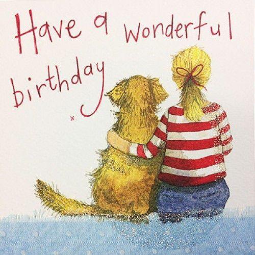 Alex Clark Art Red Stripey Birthday Card
