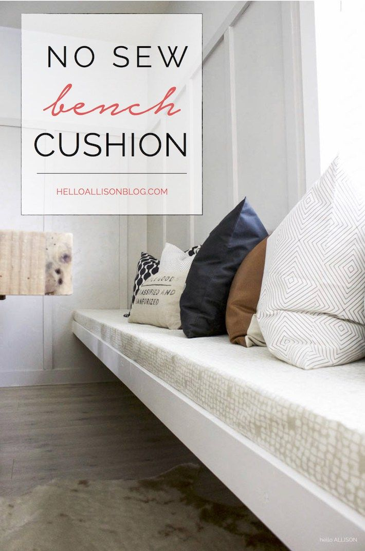 Diy No Sew Bench Cushion With Images Bench Cushions Dining