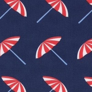 Jack and Lulu - Its a Shore Thing - Beach Umbrellas in Navy