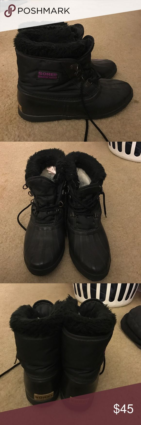 Sorel boots Hello , I have a beautiful pair of sorel boots for sale! They have been worn many times. They keep me very warm in the winter. Size 8 Please make offers ! Thanks Sorel Shoes Winter & Rain Boots