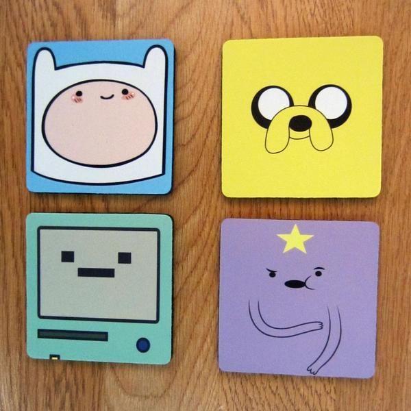 Abenteuer Zeit Drink Coaster Set Adventure Time Un…