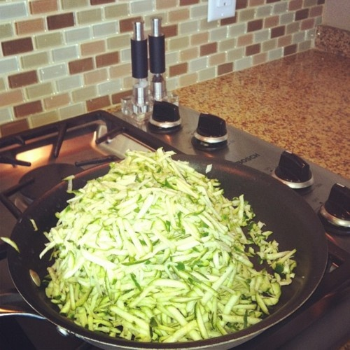 zucchini hashbrowns (splash of olive oil & fry until crisp-add sour cream and cracked black pepper if desired)