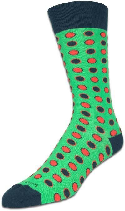Layered Polka Dots Green/Red/Blue