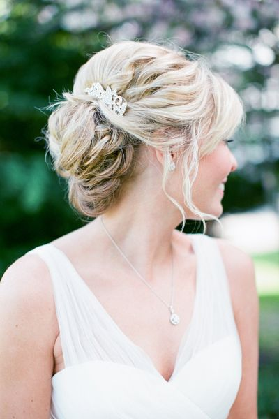 up do with a jeweled comb | Rachel May #wedding