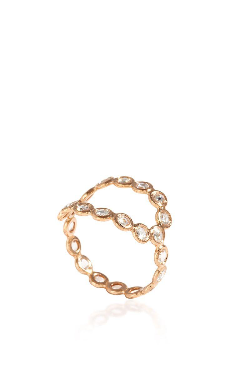 18K Rose Gold Oval Ring with Diamonds - Lito Resort 2016 - Preorder now on Moda Operandi