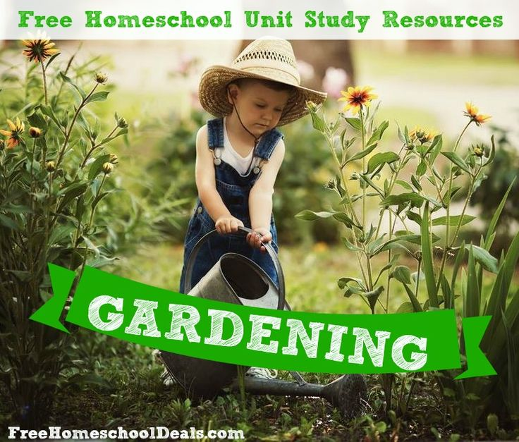 Gardening ideas with kids and gardening unit study stuff for free for homeschooling.