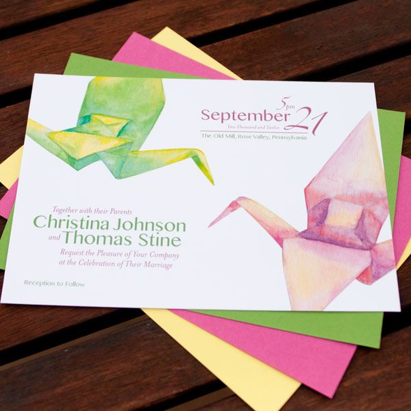 Origami Wedding Invitations: 1000+ Images About Wedding Crane On Pinterest