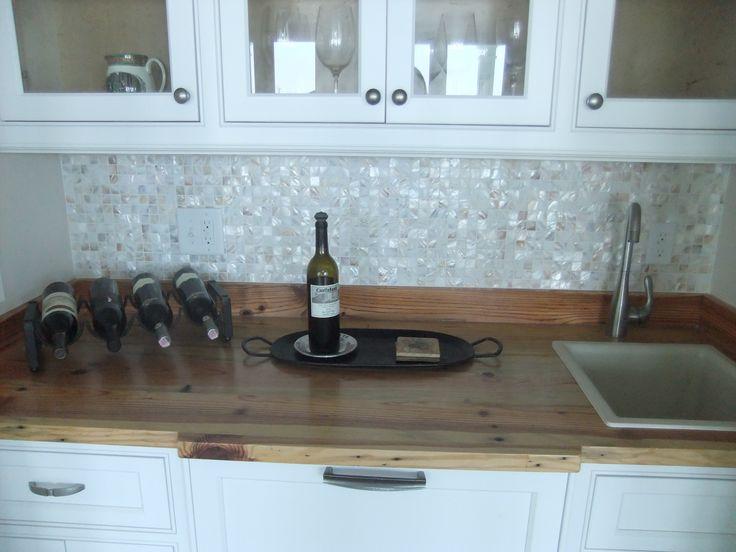groutless mother of pearl tile backsplash groutless kitchen