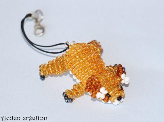 Porte clés - perles de rocailles - animaux