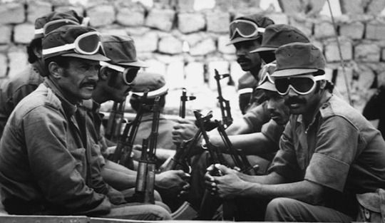 Fighters of the Polisario Front. late 1970s.