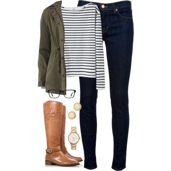 OOTD by classically-preppy on Polyvore featuring Wood Wood, Dorothy Perkins, J Brand, Tory Burch, Marc by Marc Jacobs, Ray-Ban and Kate Spade