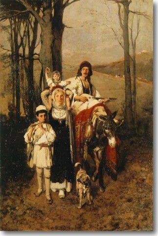 Λύτρας Νικηφόρος-Επιστροφή από το Πανηγύρι, περ 1866