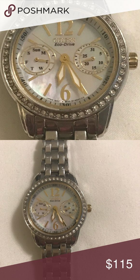 Citizen Ladies Watch Gorgeous stainless steel ladies watch with crystal detailing! Citizen Accessories Watches