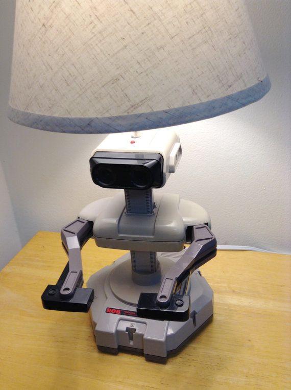 Nintendo NES ROB the Robot Very Rare Vintage Gaming Desk Lamp Light
