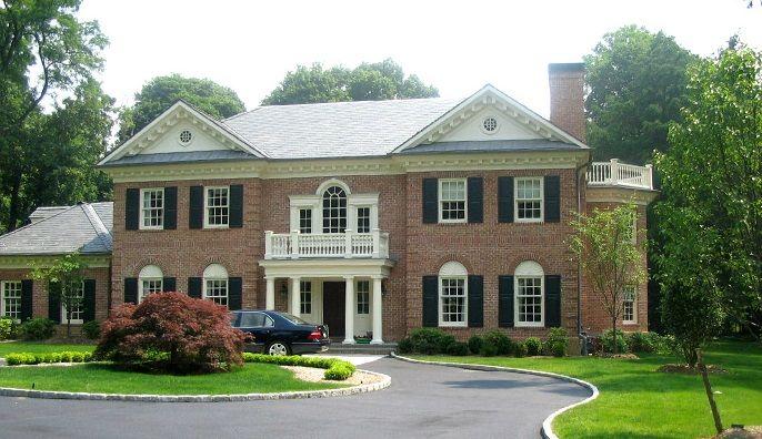 """www.pinus-okna.pl luxury WINDOWS Prywatna rezydencja w USA okna """"sash window"""" Privat residence in USA with sash windows"""