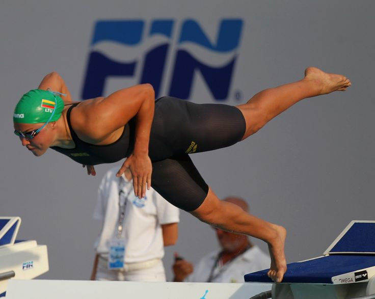 Ruta Meilutyte of Lithuania competes in the Women's 100m Breaststroke Final during the 53rd 'Sette Colli' International Swimming Trophy at Stadio del Nuoto on June 24, 2016 in Rome, Italy.