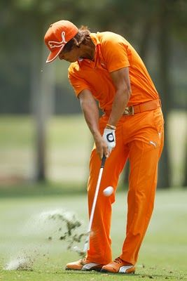 Rickie Fowler--well not hubby's want or love...but he showed me this guy's duds yesterday ;)